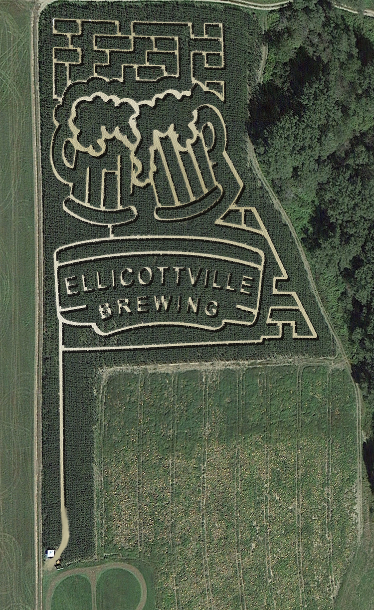 Corn Maze 2019 from helicopter